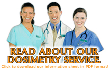 Read more about our dosimetry services.